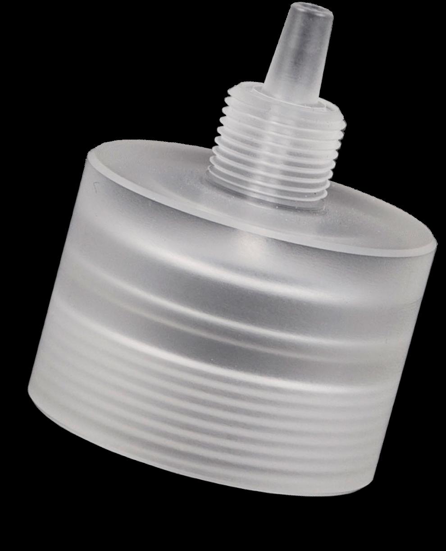 Een kunststof onderdeel op maat gemaakt door Microtherm - dop